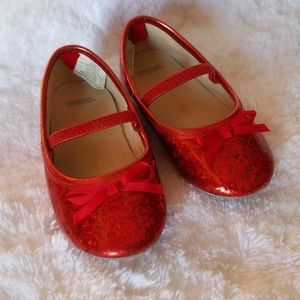Gymboree red glitter shoes size 7